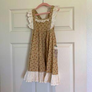 Little girls mustard pie dress sz 4T
